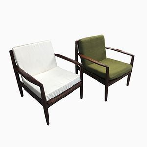 Vintage Scandinavian Teak Armchairs, 1960s, Set of 2
