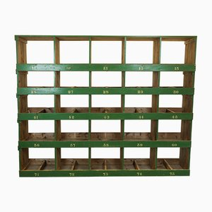 Large Victorian Industrial Pine Shelving Unit