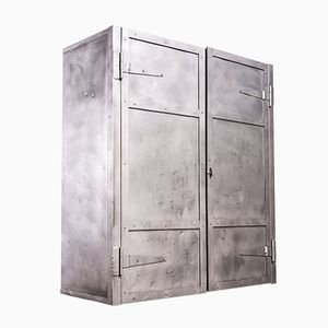 Vintage Industrial Metal Storage Locker, 1950s