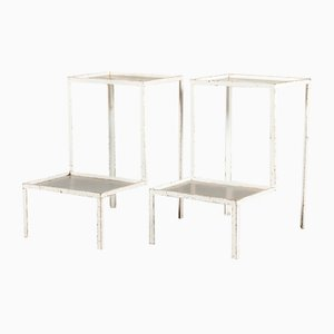 Steel Dentist's Side Tables, 1930s, Set of 2