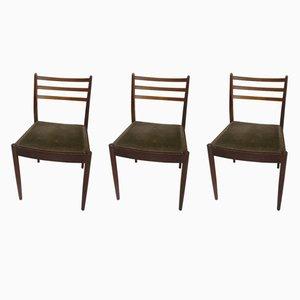 Vintage Teak Chairs, 1950s, Set of 3