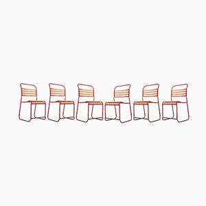 Slatted Chairs from OMIL, 1940s, Set of 6