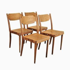Portex Esszimmerstühle von Peter Hvidt, 1960er, 4er Set