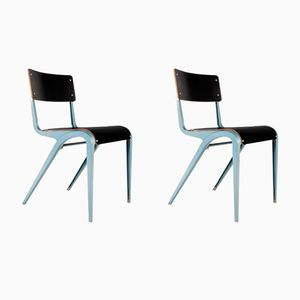 Metal & Formica Dining Chairs by James Leonard for ESA, 1960s, Set of 2
