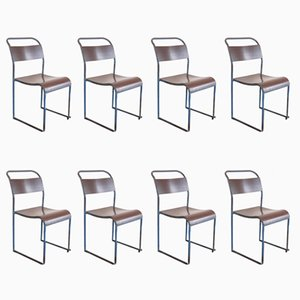 Bakelite Dining Chairs from Pel, 1940s, Set of 8
