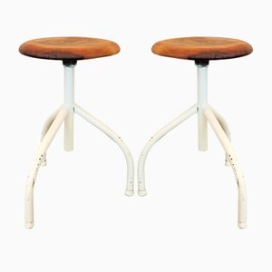Industrial Stools, 1960s, Set of 2