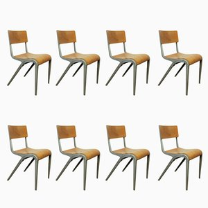 Dining Chairs by James Leonard for ESA, 1950s, Set of 8