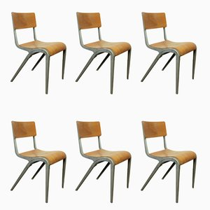 Dining Chairs by James Leonard for ESA, 1950s, Set of 6