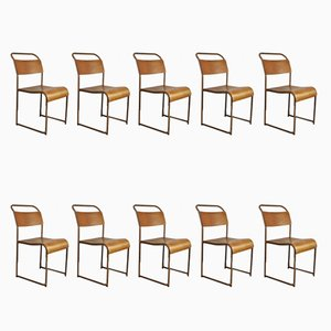 Stackable Dining Chairs from Bamco, 1940s, Set of 10