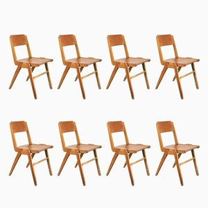 Mid-Century Stackable Dining Chairs from Casala, Set of 8