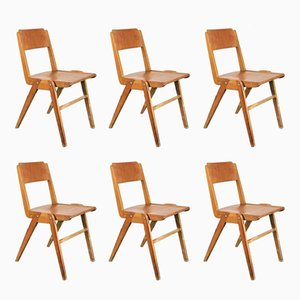 Vintage Dining Chairs from Casala, 1950s, Set of 6