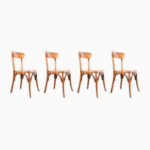 Bentwood Dining Chairs, 1950s, Set of 4