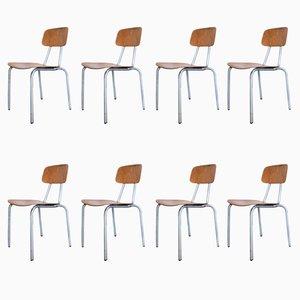 Chaises de Salon en Aluminium, 1970s, Set de 8