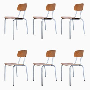 Chaises de Salon en Aluminum, 1970s, Set de 6