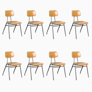 Stackable University Chairs, 1960s, Set of 8
