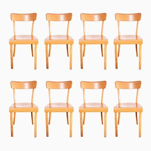 Frankfurter Bentwood Chairs, 1960s, Set of 8