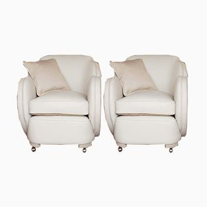 Art Deco Armchairs by Harry and Lou Epstein, Set of 2