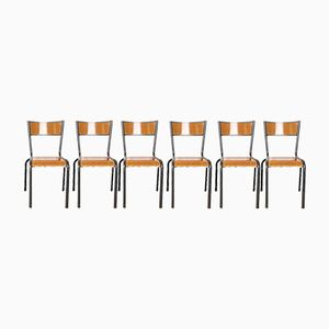 French Dining Chairs from Mullca, 1950s, Set of 6