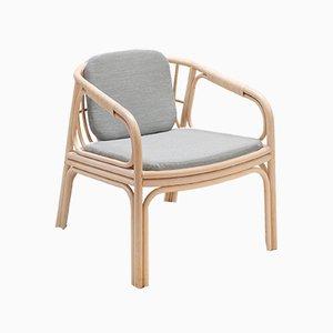 HUBLOT Armlehnstuhl mit grauem Sitzkissen von Guillaume Delvigne für ORCHID EDITION