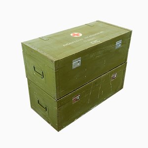 Russian Industrial Military First Aid Box or Side Table, 1960s