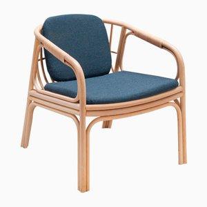 HUBLOT Armlehnstuhl mit blauem Sitzkissen von Guillaume Delvigne für ORCHID EDITION
