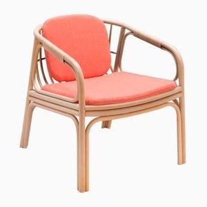 HUBLOT Armlehnstuhl mit pinkem Sitzkissen von Guillaume Delvigne für ORCHID EDITION