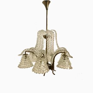 Vintage Murano Glass Rostrato Chandelier by Ercole Barovier