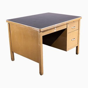 English Desk With Linoleum Top from Art Metal, 1940s