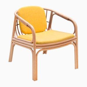 HUBLOT Armlehnstuhl mit Sitzkissen in Medley-Gelb von Guillaume Delvigne für ORCHID EDITION
