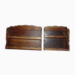 Portaspezie vintage in legno, anni '50, set di 2