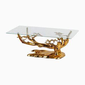 Brass Bonsaï Coffee Table by Willy Daro, 1970s