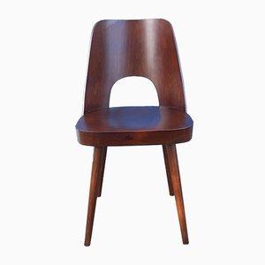Mid-Century Modell 515 Stühle aus Nussholz von Oswald Haerdtl für TON, 5er Set