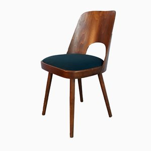 Mid-Century Model 515 Walnut Chairs by Oswald Haerdtl for TON, Set of 4