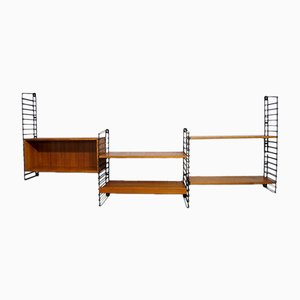 Teak Wall Unit by Kajsa & Nils Strinning for String, 1960s