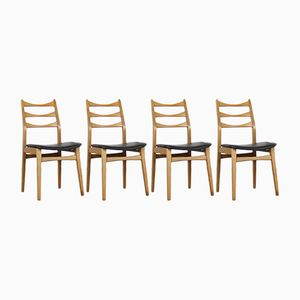 Vintage Chairs in Black Skai from Mignon Möbel, Set of 4
