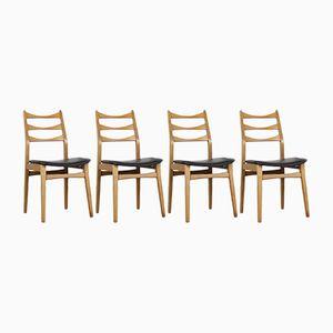Vintage Stühle aus schwarzem Skai von Mignon Möbel, 4er Set