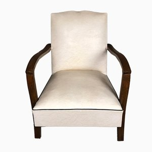Vintage Low Skai Armchair