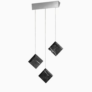 Werner Jr. Marquinia Ceiling Lamp with Satin Silver Mount by Andrea Barra for [1+2=8]