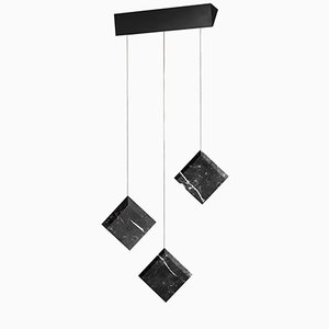Werner Jr. Marquinia Ceiling Lamp with Black Mount by Andrea Barra for [1+2=8]