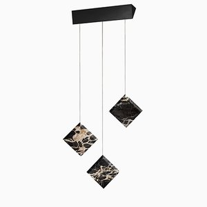 Werner Jr. Portoro Ceiling Lamp with Black Mount by Andrea Barra for [1+2=8]