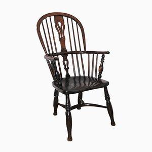 Windsor Stuhl mit hoher Rückenlehne, 19. Jh.
