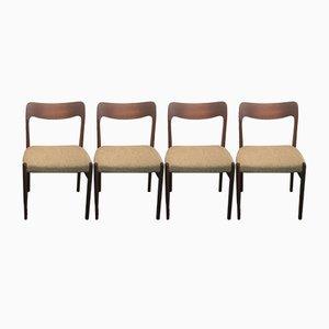 Vintage Nr. 75 Stühle aus Teak von Niels Otto Møller für J.L. Møllers, 4er Set