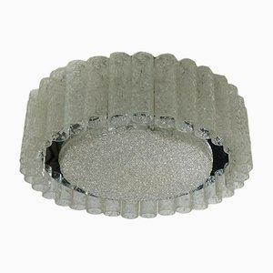 Lámpara de techo vintage de cristal esmerilado con 32 tubos de vidrio de Doria Leuchten