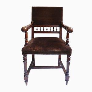Antiker Napoleon III Thron und Armlehnstuhl