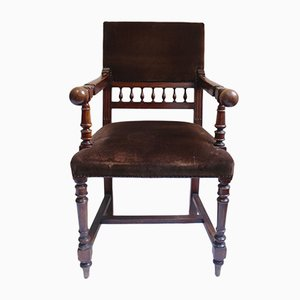 Antique Napoleon III Throne Armchair