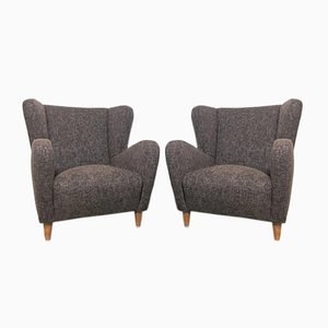 Italian Armchairs, 1940s, Set of 2