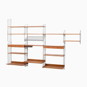 Mid-Century Teak Shelving Unit by Kajsa & Nils Nisse Strinning for String Design, 1950s
