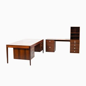 "Mid-Century Danish ""Diplomat Series"" Sideboard by Finn Juhl for France and Søn, 1960s, Set of 2"