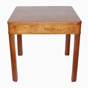 Art Deco Side Table with Drawer