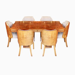Art Deco Dining Set by Harry and Lou Epstein, 1930s